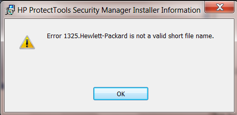 Hewlett-Packard не является допустимым коротким именем файла